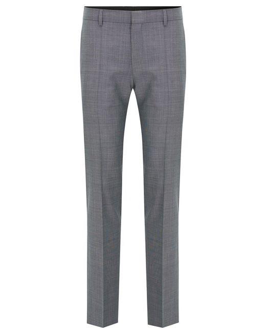 HUGO   Gray 'c-genius'   Slim Fit, Super 100 Virgin Wool Dress Pant for Men   Lyst