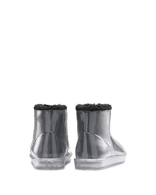 Bottines transparentes avec doublure imitation peau retournée HUGO en coloris Black