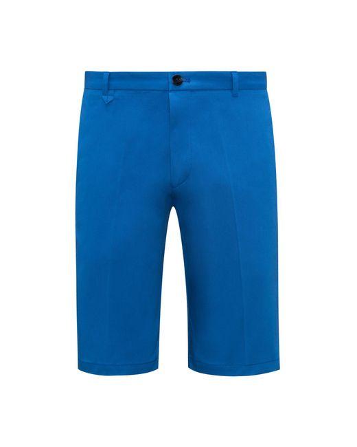 HUGO - Blue Stretch Cotton Short, Slim Fit | Hano for Men - Lyst