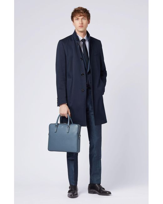 5fd685f23b ... BOSS - Blue Signature Collection Document Case In Printed Palmellato  Leather for Men - Lyst ...