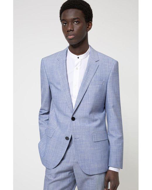 Veste Slim Fit en tissu stretch à motif HUGO pour homme en coloris Blue