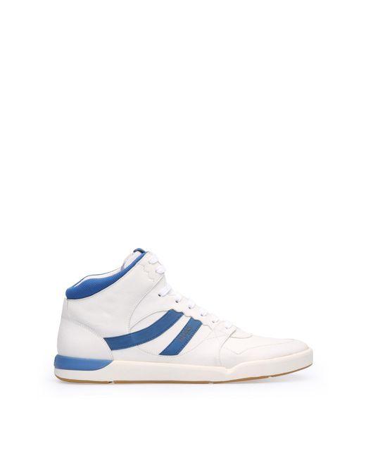 BOSS Orange | White 'stillnes Hito Ltws' | Calfskin High Top Sneakers for Men | Lyst