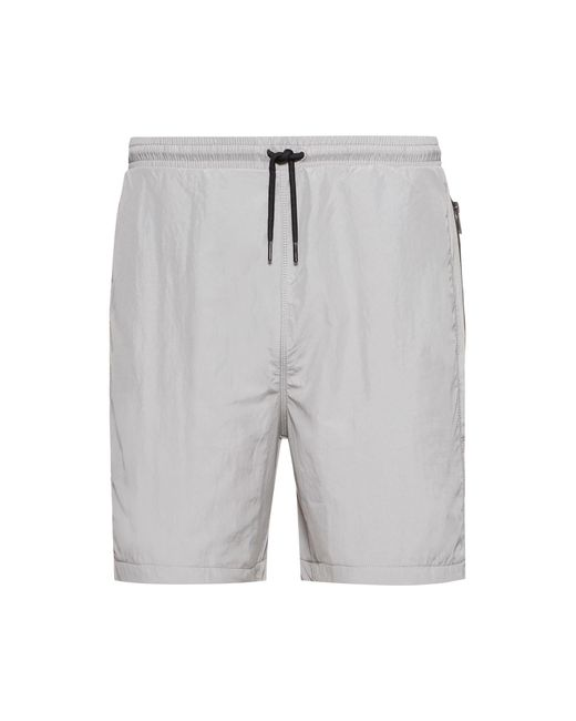Short Relaxed Fit avec poches zippées et logo à message HUGO pour homme en coloris Gray