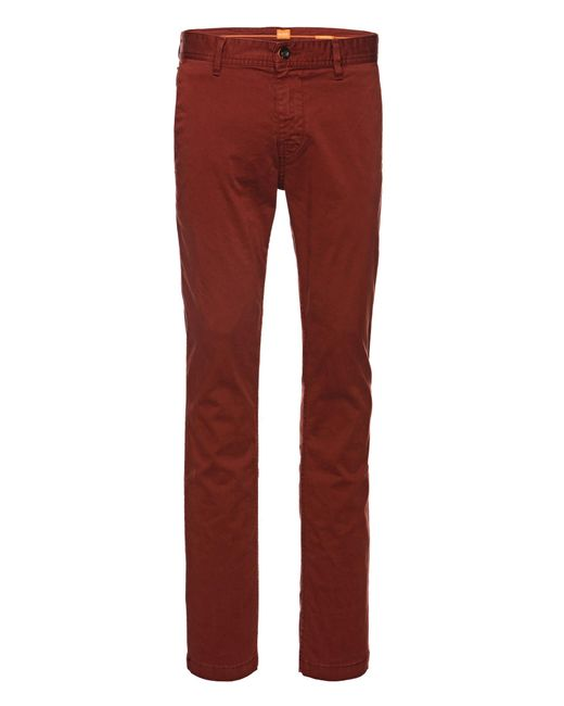 BOSS Orange   Natural Slim-fit Chinos In Brushed Stretch Cotton for Men   Lyst