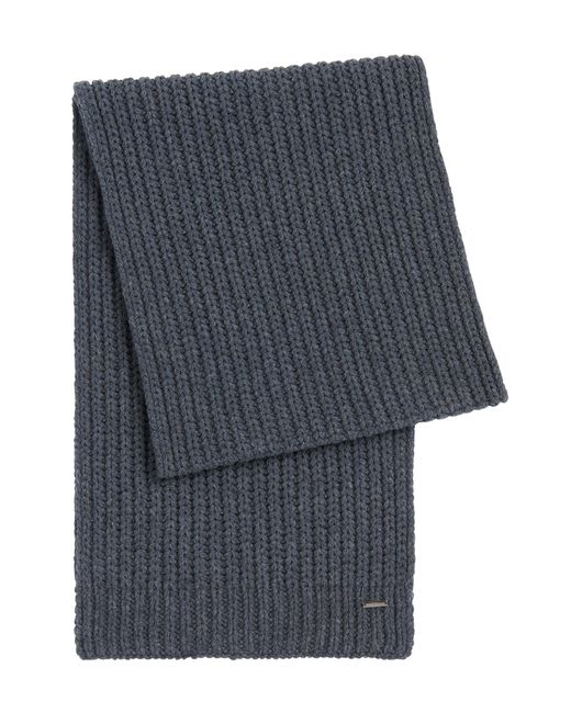 HUGO | Gray Scarf In New Wool: 'zaffano' for Men | Lyst