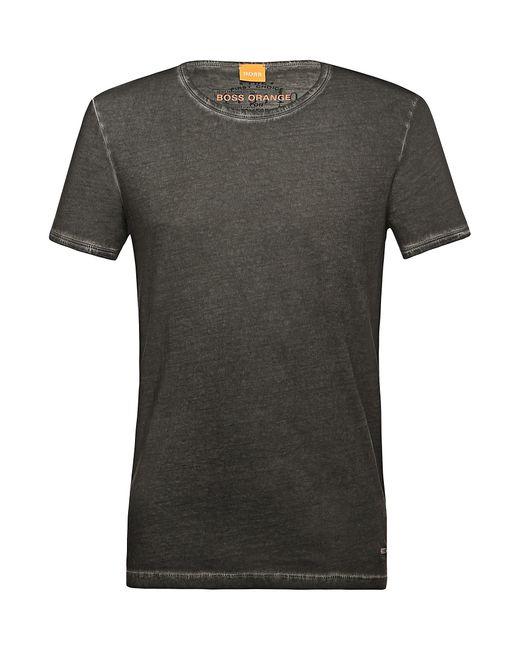 BOSS Orange   Black Regular-fit T-shirt In Garment-dyed Cotton for Men   Lyst