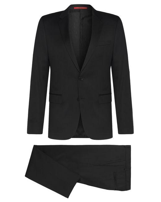 HUGO   Black 'aeron/hamen'   Slim Fit, Virgin Wool Suit for Men   Lyst