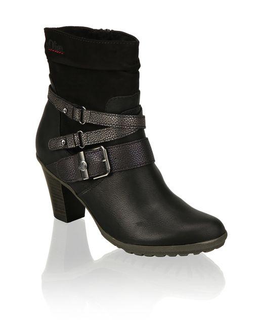 S.oliver Black Textil Stiefelette