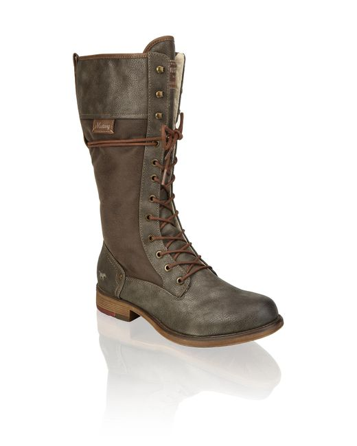 Mustang Gray Stiefel
