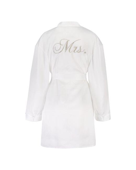 Hunkemöller Kimono Satin Bridal in het White