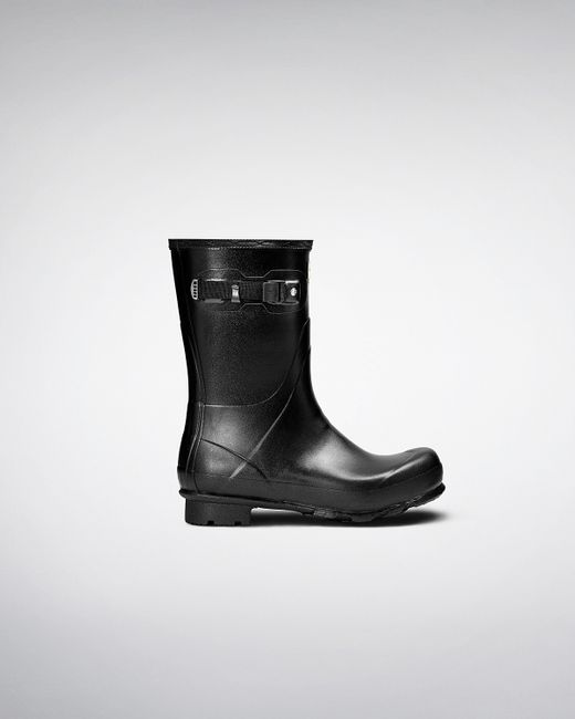 Hunter | Black Mens Norris Field Short Wellington Boots for Men | Lyst