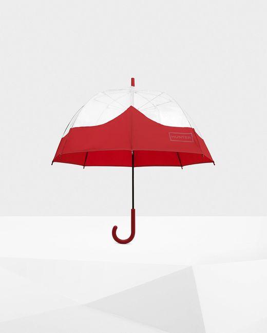 Hunter Red Original Moutasche Bubble Umbrella