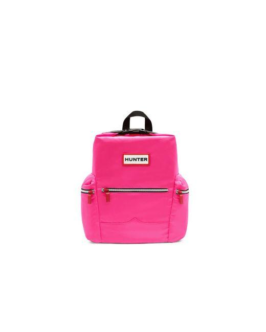 Minimochila Con Clip En La Parte Superior Original - Nailon Hunter de color Pink