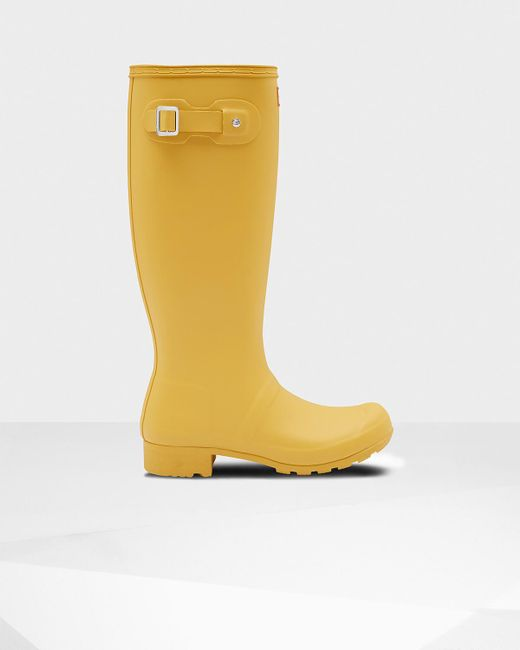 Hunter - Yellow Original Tour Rain Boots - Lyst