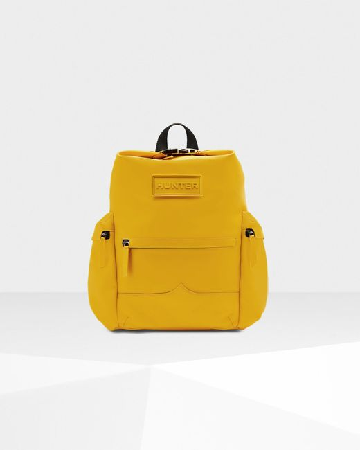 Hunter Yellow Original Top Clip Backpack - Rubberised Leather
