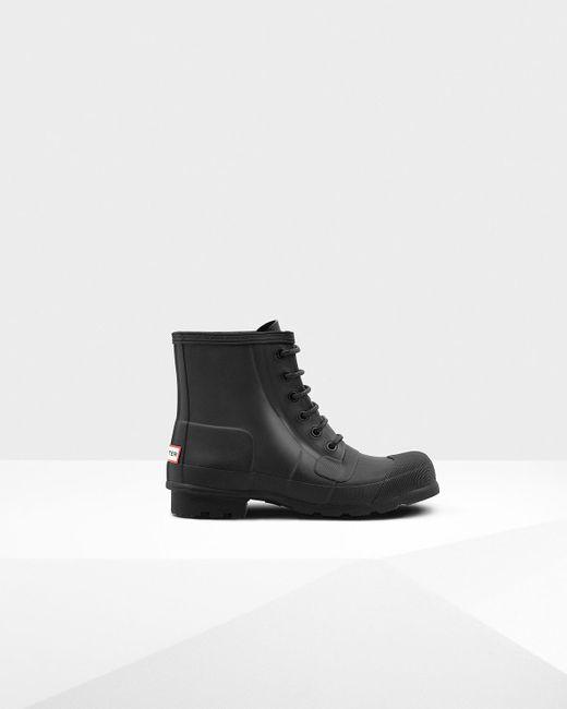 Hunter | Black Men's Original Rubber Lace-up Boots for Men | Lyst