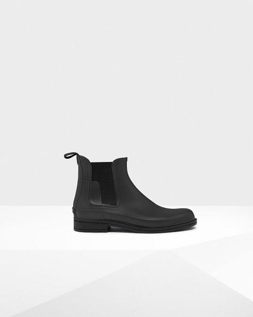 HUNTER | Black Men's Original Refined Chelsea Boots for Men | Lyst