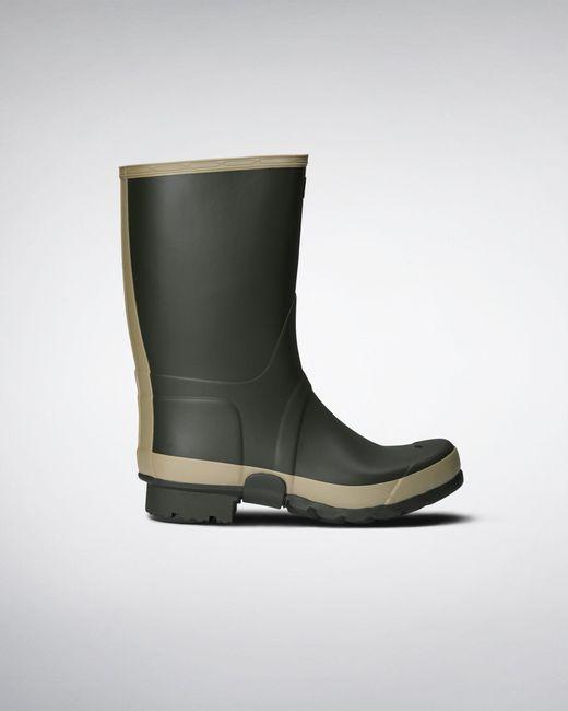 Hunter Black Gardener Wellington Boots for men