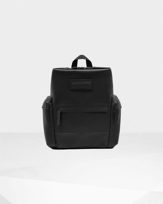 Hunter Black Original Top Clip Backpack - Rubberized Leather