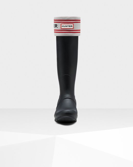 Hunter Black Original Branded Knitted Cuff Boot Socks for men