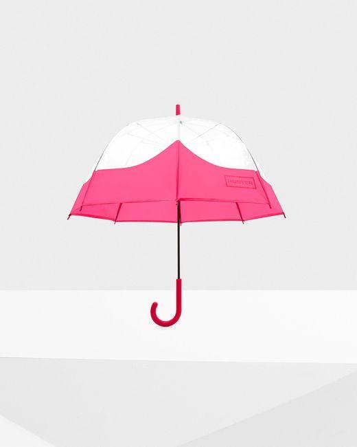 Hunter Pink Original Moustache Bubble Umbrella