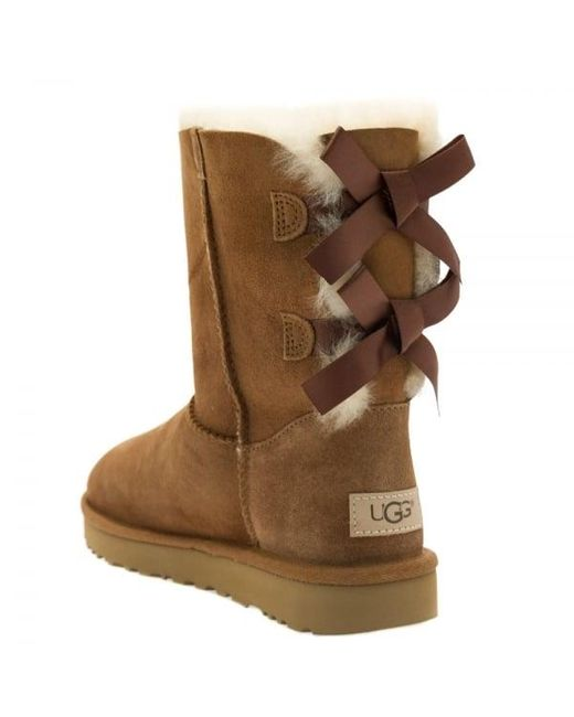 UGG Gita Bow Ankle Boots, Chestnut at John Lewis & Partners