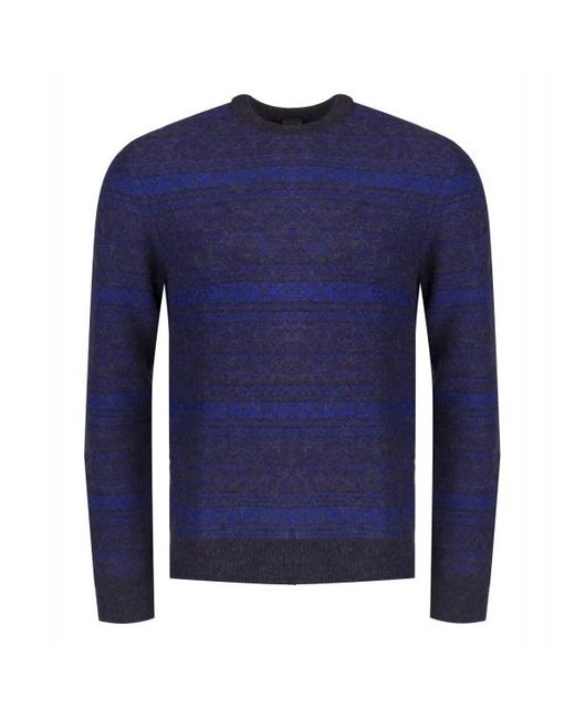 PS by Paul Smith Blue Alpaca Wool Mix Knitted Jumper for men