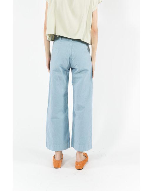 Jesse kamm sailor pants in blue piscine blue lyst for Blue piscine hannut