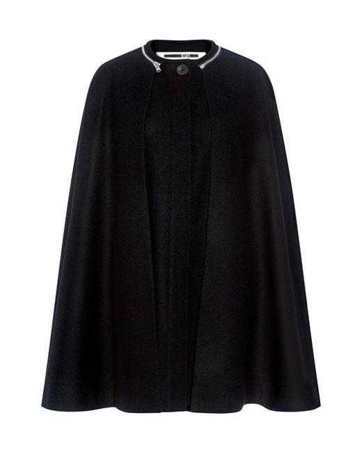 McQ Alexander McQueen - Black Wool Cape - Lyst