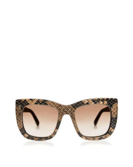 Stella McCartney - Multicolor Snake Printed Square Sunglasses - Lyst