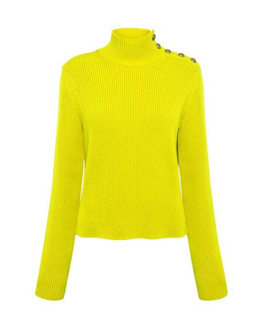 RED Valentino Multicolor Turtleneck Sailor Rib Sweater