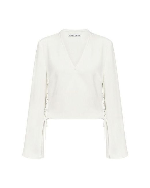 Finders Keepers - White Fly Away Cropped Blouse - Lyst