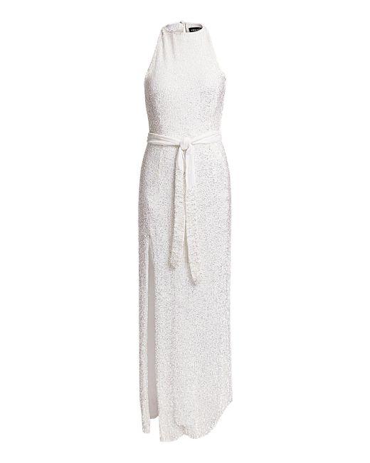 retroféte White Tzilly Sequined Maxi Dress