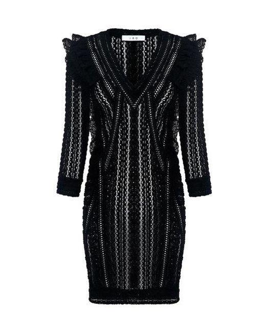 IRO - Black Lark Robe Lace Tunic Dress - Lyst