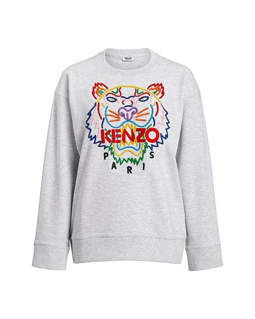 eb6e34803 KENZO - Multicolor Rainbow Tiger Embroidered Oversized Sweatshirt - Lyst ...