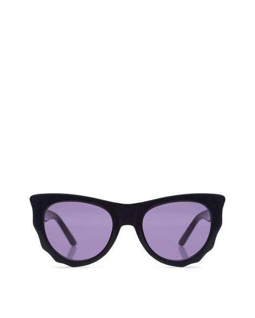 Ksubi - Black Batcat Thick Frame Sunglasses - Lyst