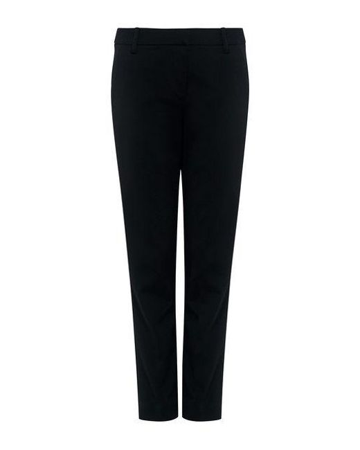 Tibi - Black Stretch Faille Cropped Beatle Pants - Lyst