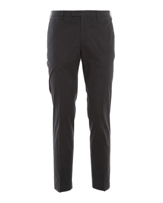 PT Torino Blue Stretch Cotton Silk Pants for men