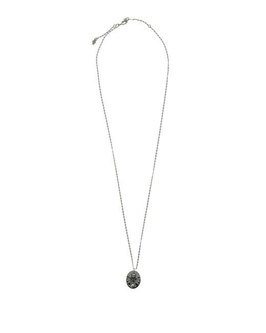 Alexander McQueen Metallic Spider Charm Brass Necklace