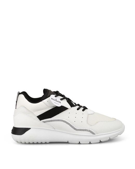 Hogan White Interactive Leather Sneakers for men