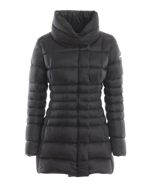 Colmar Black Fitted Padded Coat With Funnel Neck