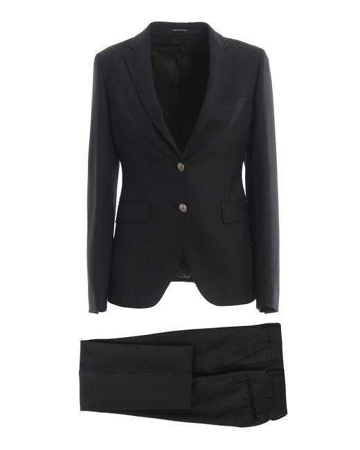 Tagliatore Black Wool Blend Suit