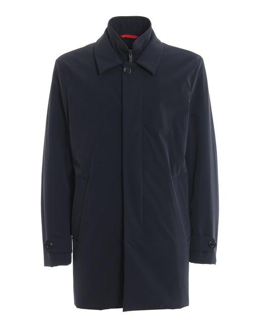 Fay Blue Slightly Padded Waterproof Raincoat for men