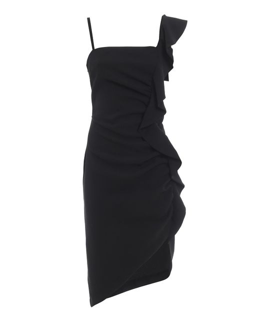 Pinko Anita Black Tech Fabric Dress