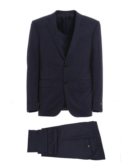 Ermenegildo Zegna Blue Wool Tailored Suit for men
