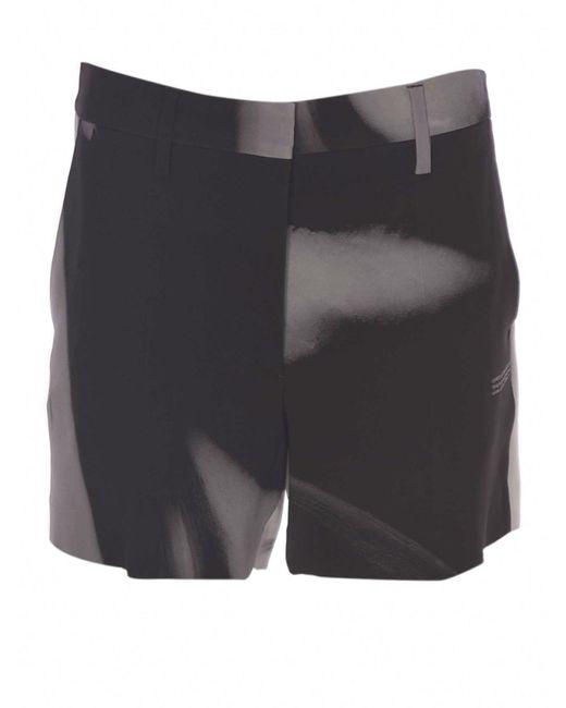 Bermuda Liquid Metal neri e grigi di Off-White c/o Virgil Abloh in Black