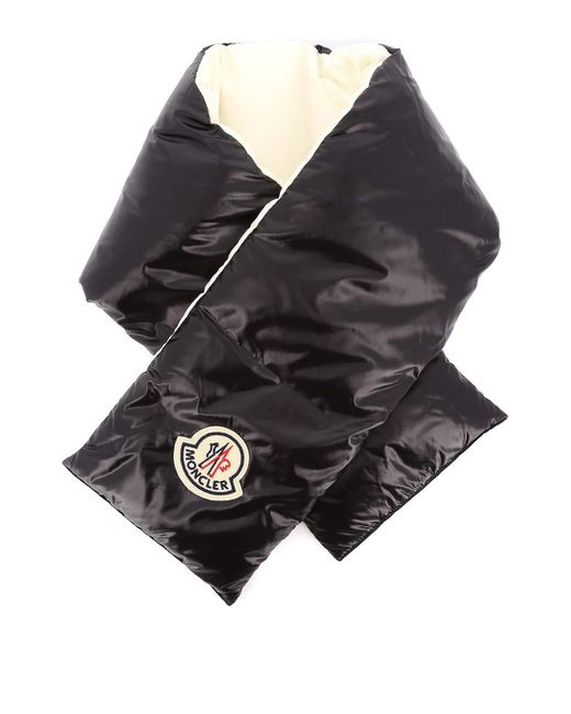 Moncler Black Two-tone Padded Scarf
