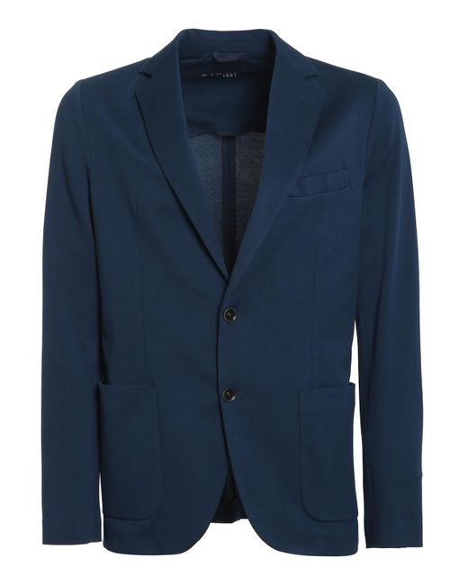 Circolo 1901 Blue Stretch Cotton Pique Blazer for men