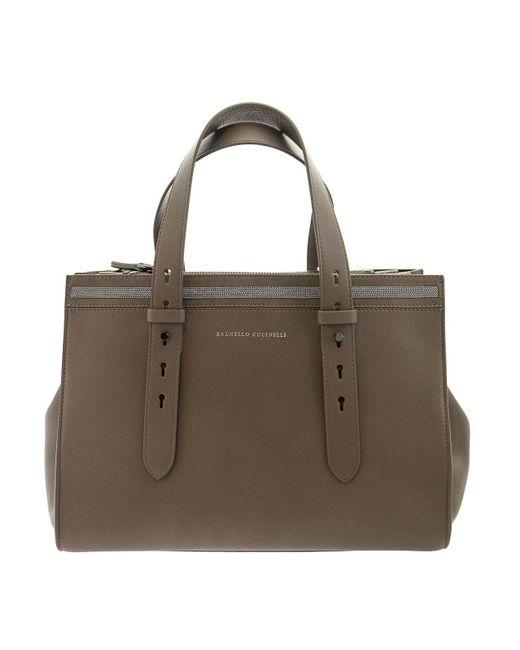 Brunello Cucinelli Brown Leather Tote