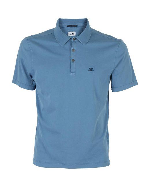 Polo In Cotone Blu di C P Company in Blue da Uomo
